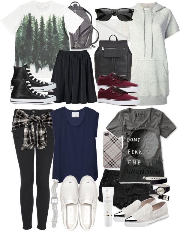 Stiles Inspired Summer Vacation Outfits by veterization featuring vans shoes Diesel white dress, $180 / 3 1 Phillip Lim navy blue tee / Adam Kimmel t shirt, $200 / Glamour Kills scoop neck tee / By...