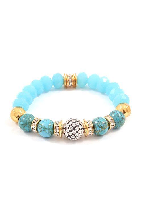 Crystal Rina Bracelet in Turquoise on Emma Stine Limited