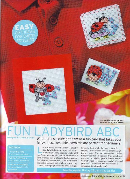 Fun Ladybird ABC The World of Cross Stitching Issue 126 July 2007 Saved