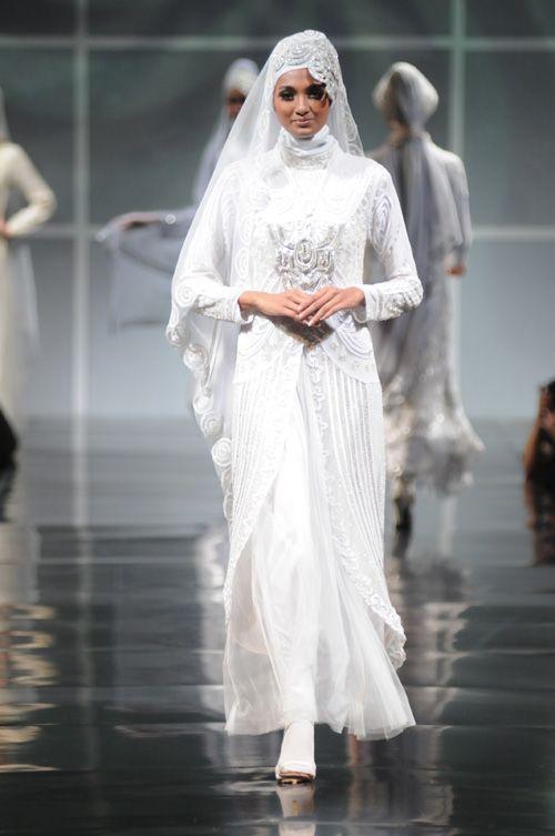 Muslim Wedding Dresses | modern islamic wedding dress malaysian style wedding dress