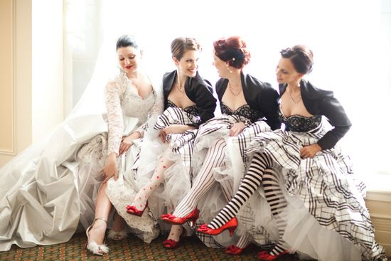 How cute is that, with the various patterned tights?!  (Annalies and Simons Whimsical Brisbane Wedding)
