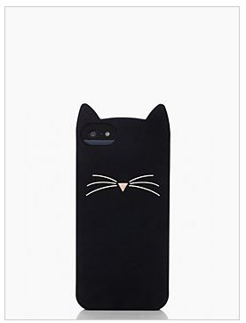 black cat silicone iphone 5 case by kate spade new york. (november 2013)