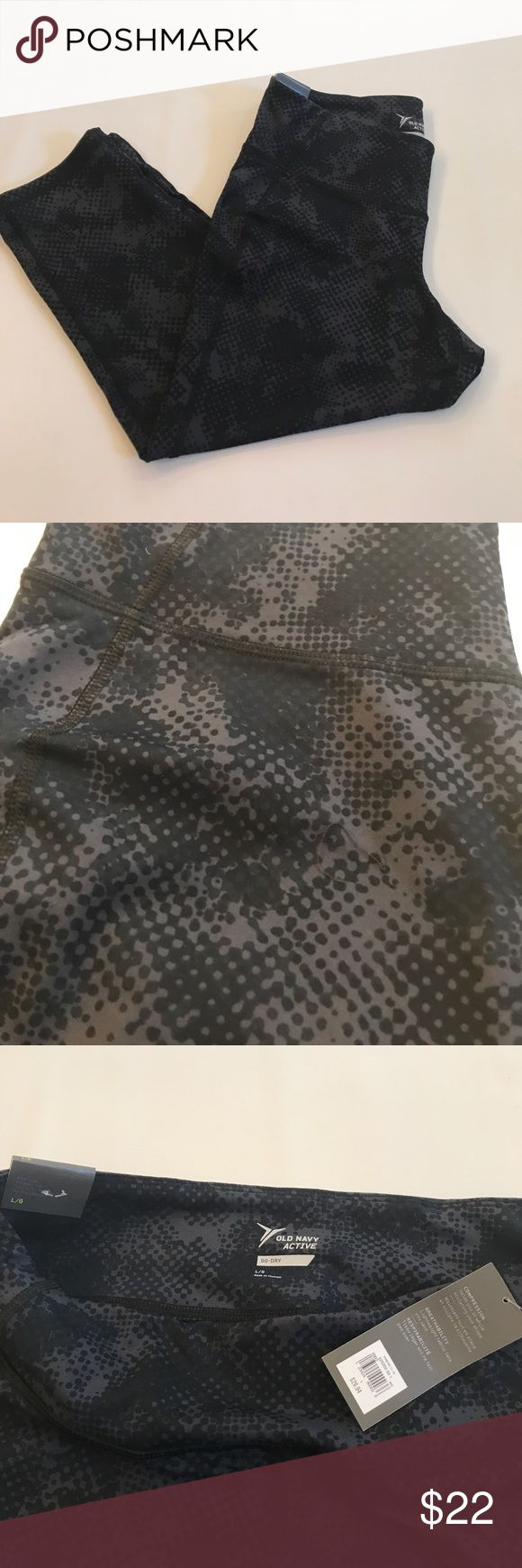 """New! Old Nacy active cropped patterned leggings New! 27"""" total length, 20"""" inseam. Go-dry cool fabric Old Navy Pants Leggings"""