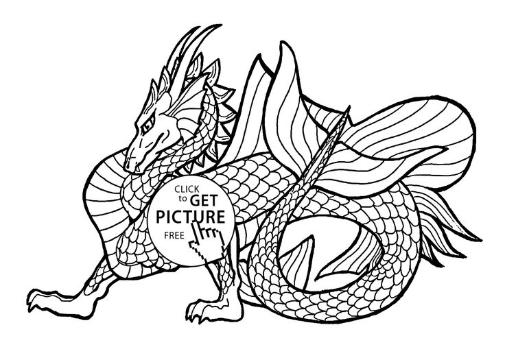 Ninjago  Headed Dragon Coloring Page