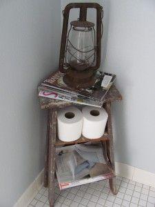 the right idea for empty space in powder bath.  i knew i needed a mini ladder!!