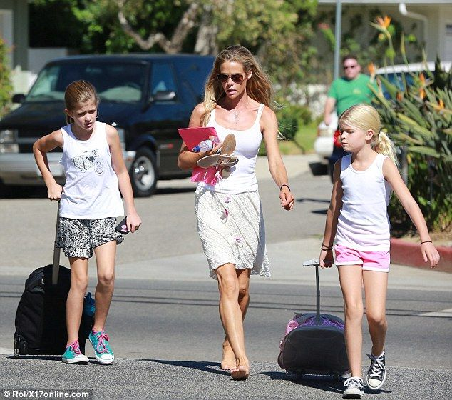 Mother daughter bonding: Denise Richards stepped out in Beverly Hills on Saturday, flanked...