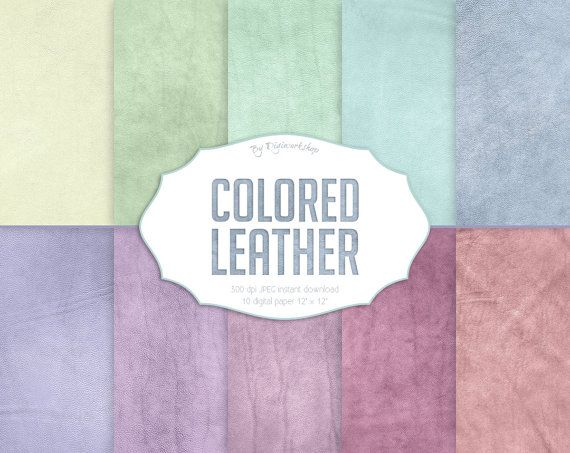 """#Leather Digital Paper: Leather Textures or Leather Digital Backgrounds - """"Colored Leather""""   10 digital paper """"Colored Leather"""" this is digital leather backgrounds with pas... #etsy #digiworkshop #scrapbooking #illustration #creative #clipart #printables #cardmaking #leather #pastel #color #colour #colored #background #texture"""