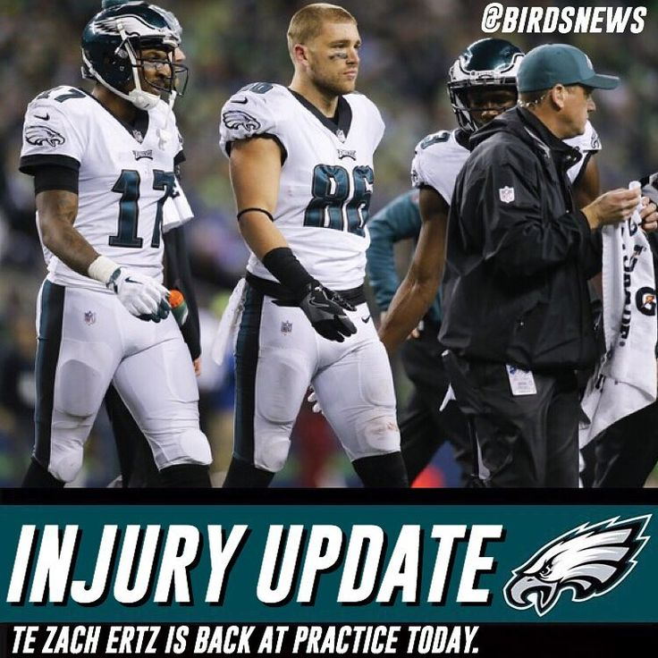 Injury Update: Eagles TE Zach Ertz who left the game on Sunday Night with a concussion is back at practice in LA today. He has cleared concussion protocol. Great news this means he is most likely playing Sunday against the Rams.  ___________________________________ #Eagles #Birds #flyeaglesfly #philly #philadelphiaeagles #eaglesnation #bleedgreen