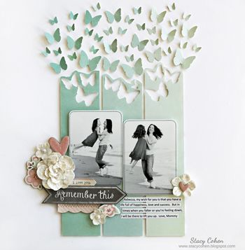 #papercraft #scrapbook #layout My Creative Scrapbook February Main kit created… …