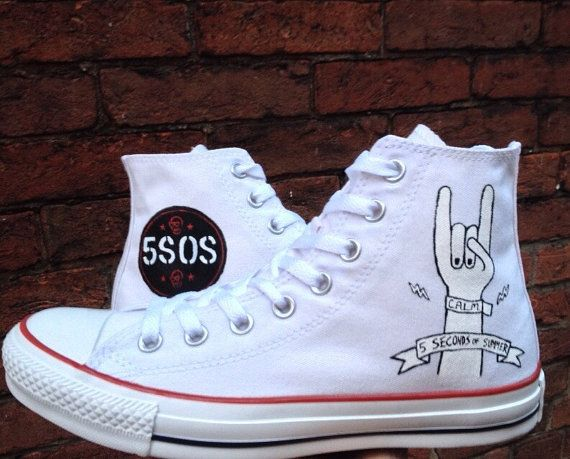 5SOS sneakers. 5 Seconds of Summer Shoes. 5sos Converse shoes