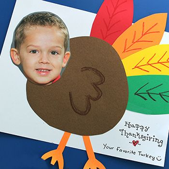 This is the cutest and simplest idea ever for a Thanksgiving card! It's courtesy of Julie of Happy Home Fairy, who made these cards this year with her son. Behold the adorableness that happens when you… turkey yourself! The turkey is made by gluing hand-cut ...