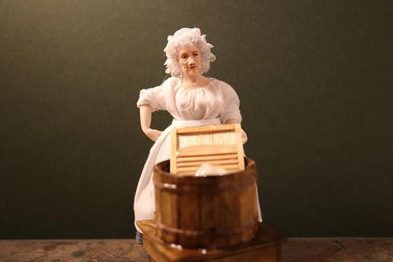 Beth a Victorian Style Washer woman 1/12 Scale Dolls House