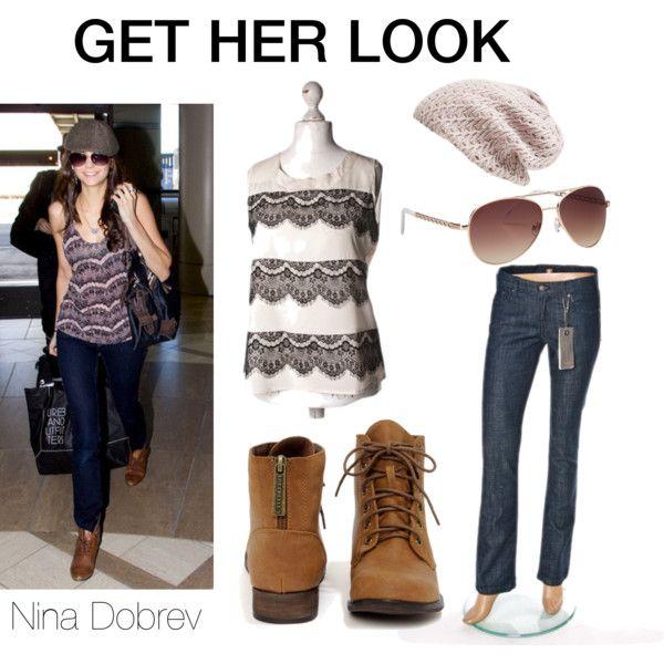 """Nina Dobrev look"" by wzorcownia on Polyvore"