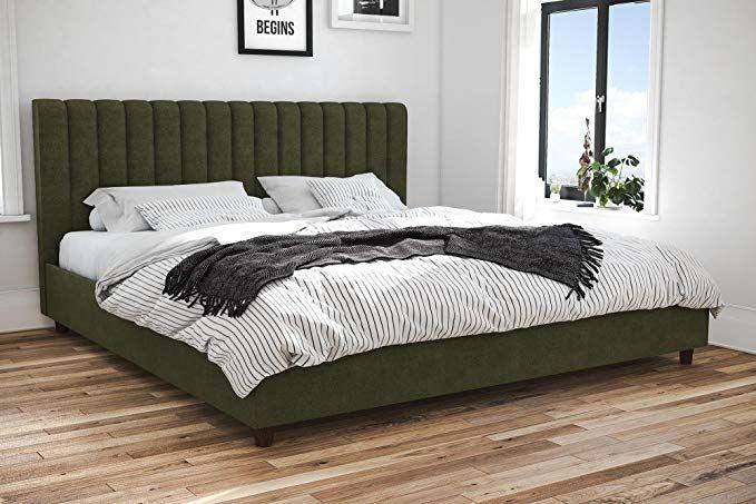 Novogratz 4193949n Brittany Upholstered Bed King Green