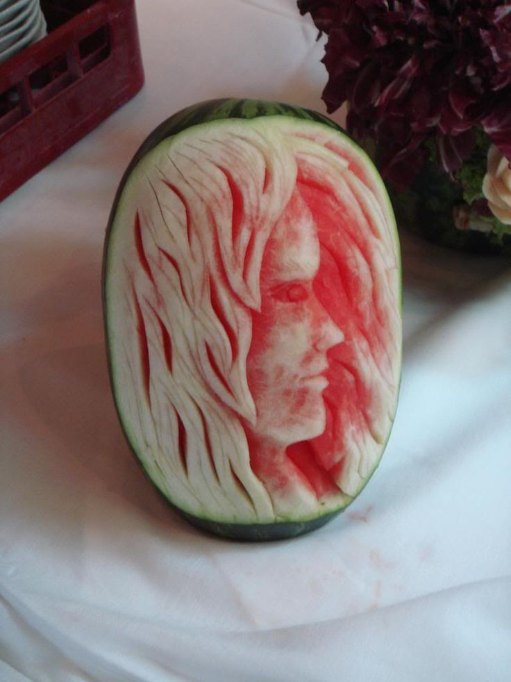 Best Watermelon Art Images On Pinterest Watermelon Carving - Incredible sculptures carved watermelon