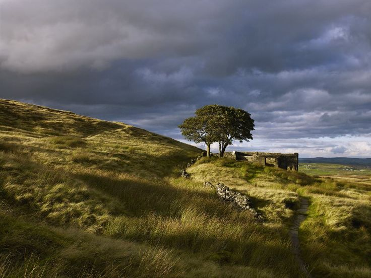 Top Withens on Pennine Way above West Yorkshire town of Haworth.