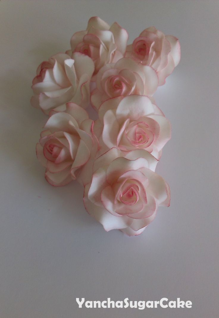 Fondant gumpaste edible flowers Roses, Wedding flowers, Wedding favor, Bridal shower, Christening, Cake topper, Cupcake topper, Baby shower by YanchaSugarCake on Etsy