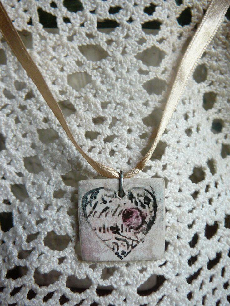 vintage hearts necklace