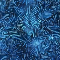 Robert Kaufman Exotica Batik Challis . SKU# 13171 - 9 Navy  Sold by the 1/2 yard…