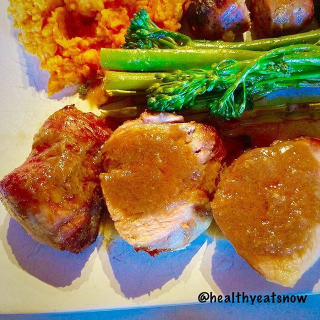 MAPLE GINGER ROASTED PORK TENDERLOIN * ¼ cup organic maple syrup * ¼ cup gluten-free soy sauce (I use Bragg's) and/or coconut aminos * 2 large garlic cloves, minced * 2 inches fresh ginger root * 1-2 pound pork tenderloin