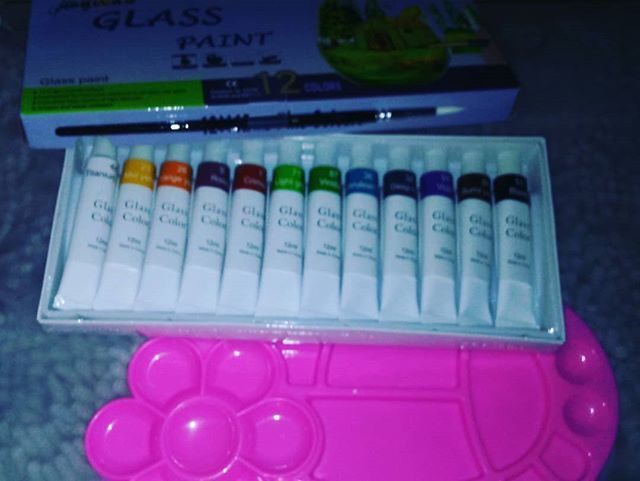 Lasten Glass PaintStained Gallery Glass Paint Set Paint on Glass CraftsGlass Art Painting Supplies Permanent Craft Paint Kit on Glass Surface (12 Colors/set)  This set of 12 glass paints works great for painting a variety of craft projects. Although the paints are designed to be used on glass you can also use them on other surfaces such as metal plastic ceramic and more. This set comes with a paint pallet and a brush so it is ready to use right out of the box.  http://amzn.to/2DQbPou #Lasten…