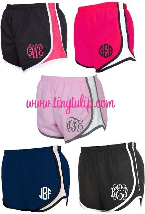 tinytulip.com - Monogrammed Running Athletic Shorts, $28.50 (http://www.tinytulip.com/monogrammed-running-athletic-shorts)