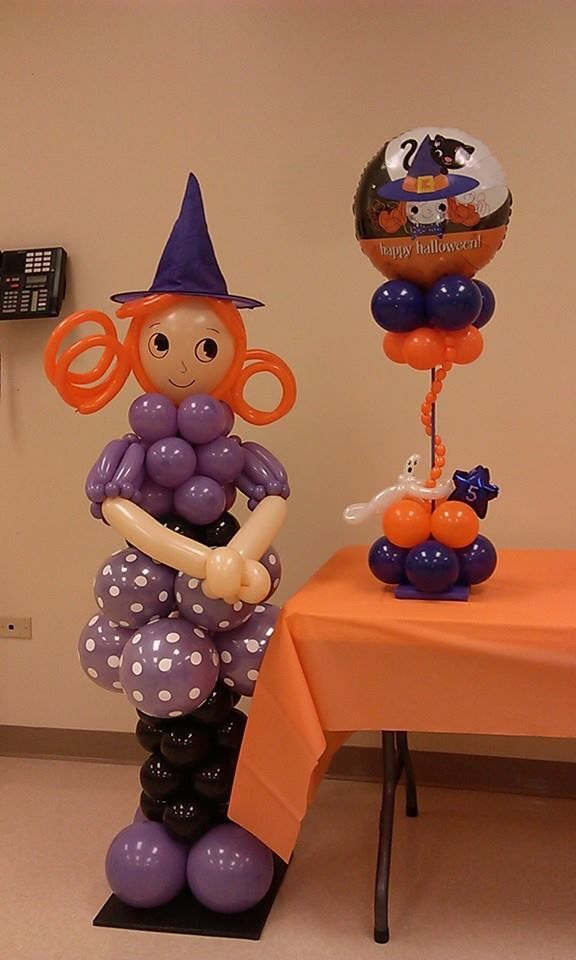 87 best balloons halloween images on pinterest for Balloon decoration for halloween