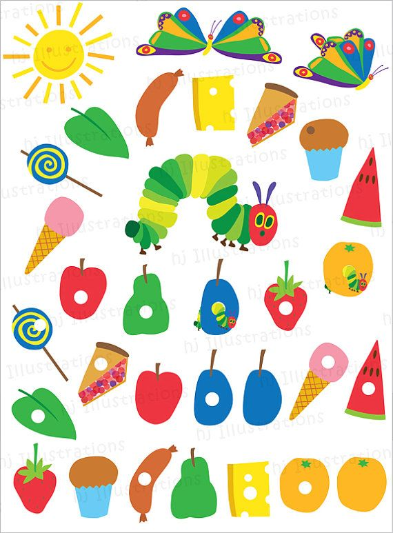 Very Hungry Caterpillar Digital Clipart By HjIllustrations On Etsy 3