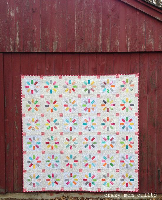 Welcome to finish it up Friday!!!!   On the first day of spring, I finished my happy quilt. What perfect timing! I absolutely love  thisqui...