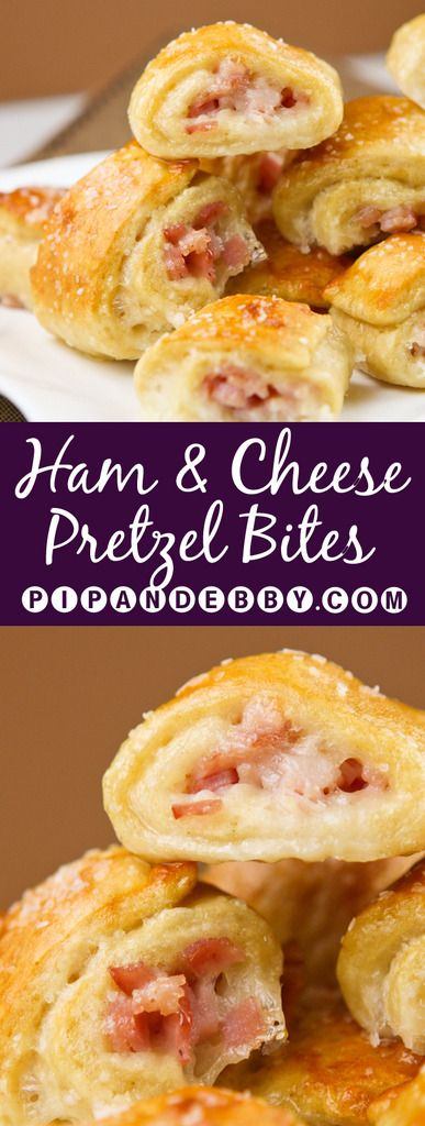 Ham and Cheese Pretzel Bites | Never worry about letting guests down again. These are the PERFECT appetizer for parties!
