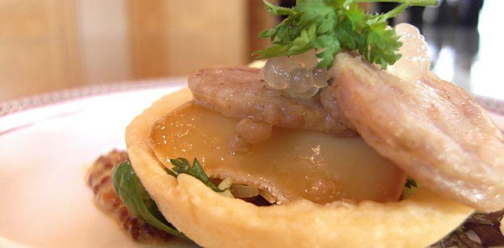 Bartlette Farms Rabbit Saucisson Sweet Onion Tart, Hotel Grand Pacific Victoria BC
