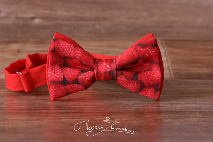 raspberries Bow tie - Bowtie Creative bow tie, Funny bow tie, Designer bowtie by BowTiesFactory on Etsy https://www.etsy.com/listing/472188910/raspberries-bow-tie-bowtie-creative-bow