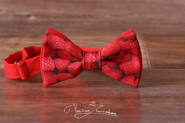 raspberries Bow tie - Bowtie Creative bow tie, Funny bow tie, Designer bowtie by BowTiesFactory on Etsy https://www.etsy.com/listing/472188910/raspberries-bow-tie-bowtie-creative-bow