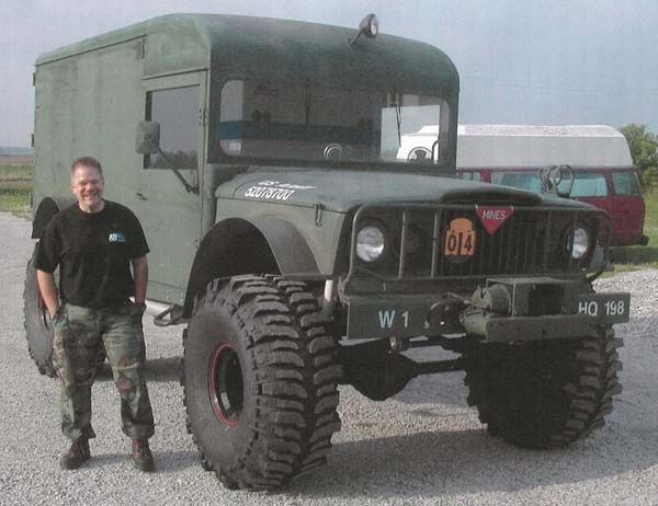 Deuce And A Half Camper >> M725 Ambulance with 44' Booger | Jeep Kaiser M715/M725 | Pinterest | Ambulance