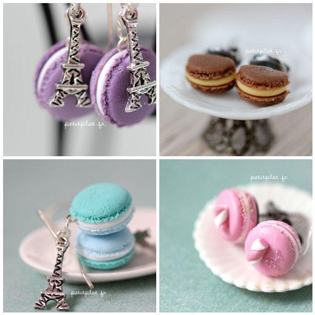 Macarons Earrings - Bijoux Gourmands Macarons by PetitPlat - Stephanie Kilgast, via Flickr