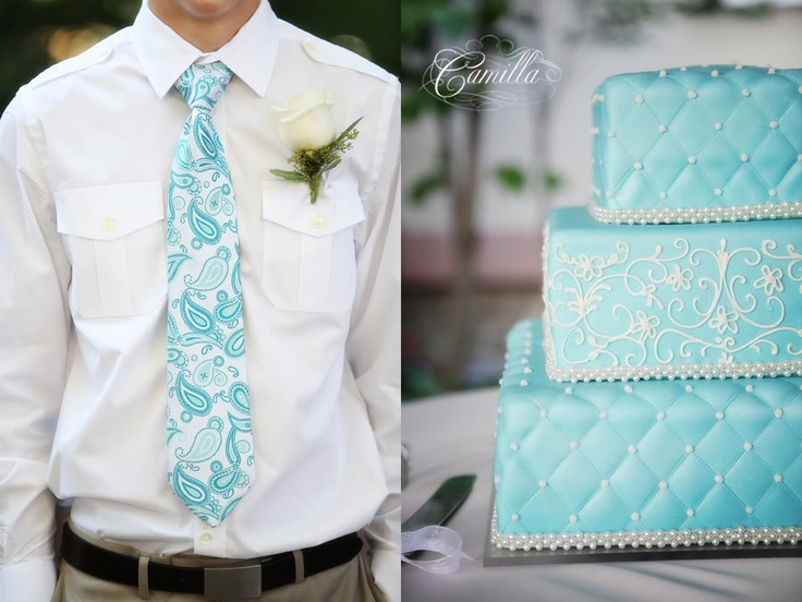 great tie and cake