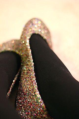 Glitter shoes! #DIY #Shoes
