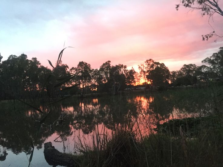 The sunsets and sunrises we are experiencing on these travels are pretty spectacular. #sunset #reflection #Australia
