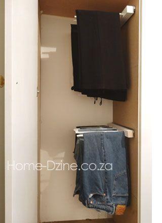 DIY trouser hanging rack