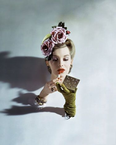 Photo, John Rawlings (1912-1970), May 1944 Vogue.  Rawlings was a Conde Nast Publications fashion photographer from 1930s through the 1960s.