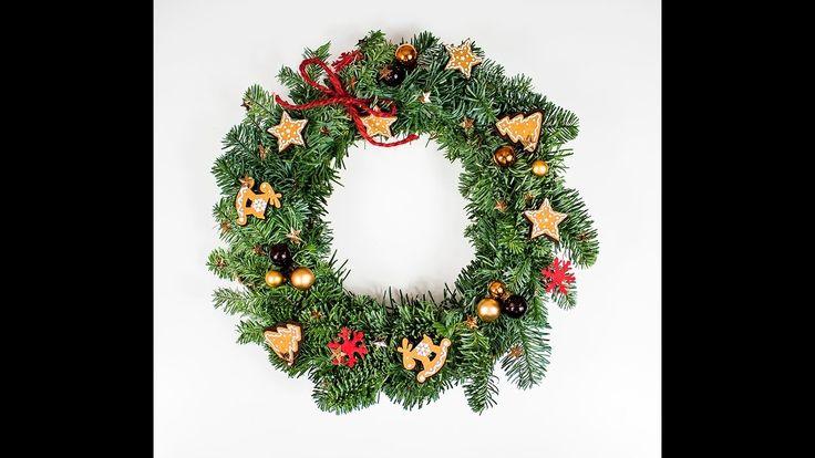 Stroik świąteczny z żywej jodły DIY. Jak zrobić stroik świąteczny? Wiane...