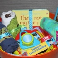 Diy Gift Basket For A Birthday Getting Your Kids Excited About Giving I Love How This Mom Involved Her Kids In The Giving Process