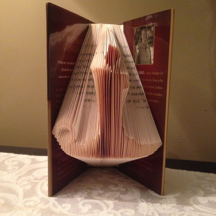The Christmas Candle, Folded book art