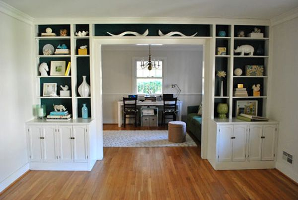 Painted bookshelf backs