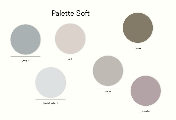 Palette #SOFT is representing by some #delicate colors and subtle tones.