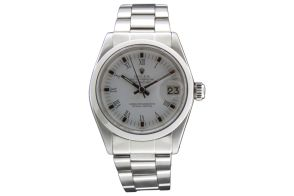 "www.valuecollection.com/public/1120/oggetti/170/index_colore2.swf.htm Rolex,""Oyster Perpetual, Datejust, Superlative Chronometer Officially Certified"". Ref. 6827. Made in 1976. Center seconds, self-winding, water-resistant, stainless steel lady's wristwatch with stainless steel Oyster bracelet."