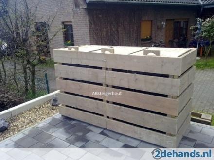 Kliko ombouw van gebruikt steigerhout