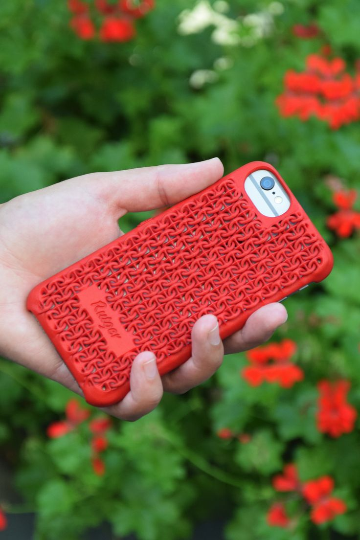 Freshfiber Chain Mail Case in Red for iPhone 6s, personalized for Rutger. Personalize yours on Freshfiber.com
