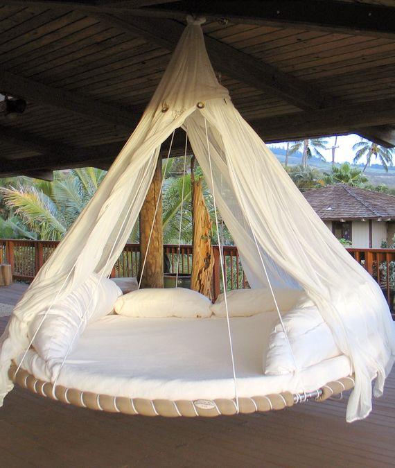 Floating bed para disfrutar la tarde sin mosquitos