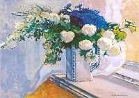 Apoloniusz Kędzierski. Kwiaty wiosenne   1911. Olej na płótnie.